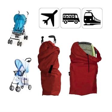 liltourist Kinderwagen Transporttasche, Reisetasche mit Trageriemen, Gate Check Bag (Rot)